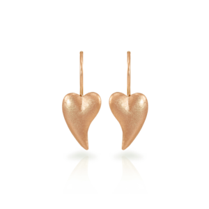 Bewitched rose gold heart earrings by Scarab Jewellery Studio