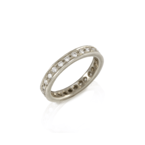 Eterna Full Eternity Ring in White Gold with white diamonds by Scarab Jewellery Studio