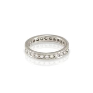 Eterna full diamond eternity ring in white gold