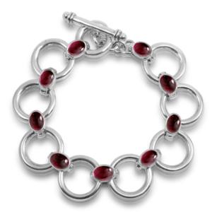 Garnet Circle Bracelet by Scarab Jewellery Studio