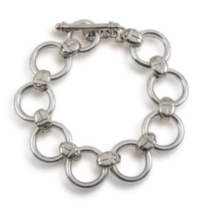 scarab silver bracelet - Silver Circle Bracelet with Scarabs by Scarab Jewellery Studio