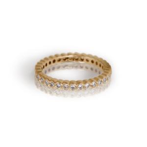 Yellow Gold Diamond Eternity Band by Scarab Jewellery Studio