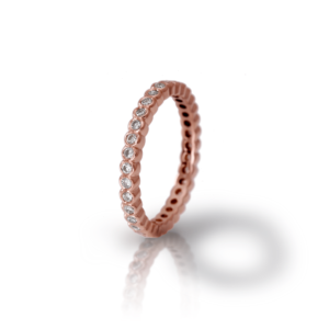 Red Gold Diamond Eternity Band Model RG94 - Scarab Jewellery Studio