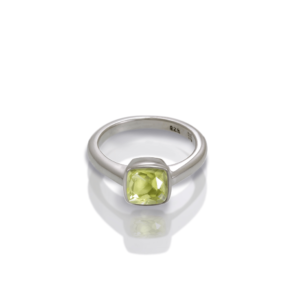 """One"" silver ring lemon quartz by Scarab Jewellery Studio"