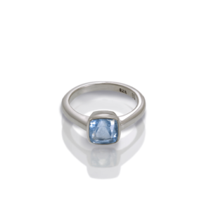 """One"" silver ring Blue Topaz by Scarab Jewellery Studio"
