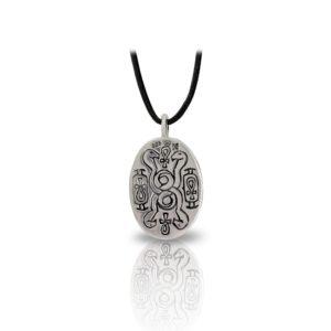 Medium Silver Scarab Pendant Back by Scarab Jewellery Studio