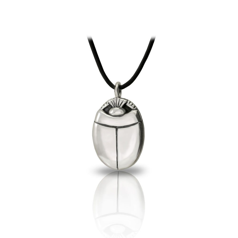 Large alexandria egyptian scarab silver pendant scarab jewellery medium silver scarab pendant aloadofball Choice Image