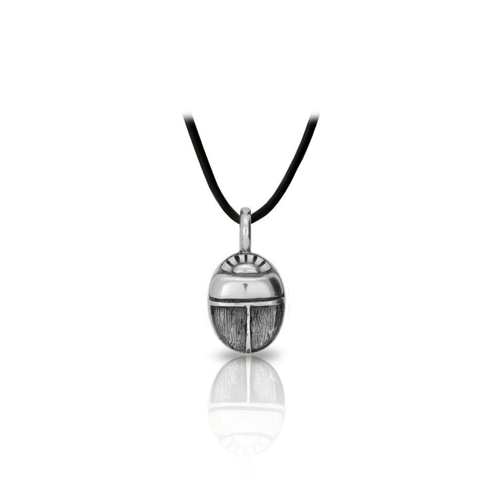 Egyptian silver scarab pendant scarab jewellery global egyptian silver scarab pendant front by scarab jewellery studio aloadofball Gallery