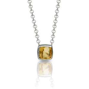 Citrine Silver Pendant P64 by Scarab Jewellery Studio London