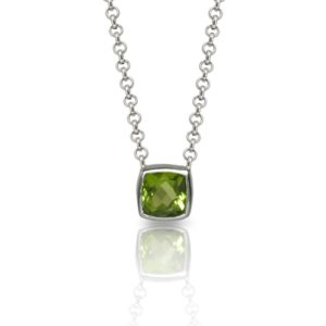 Peridot Silver Pendant P64 by Scarab Jewellery Studio London