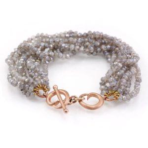 Rose Gold Labradorite Bracelet by Scarab Jewellery Studio