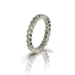 White Gold Diamond Eternity Ring by Scarab Jewellery Studio