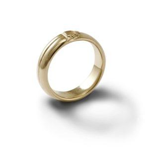 Scarab Mens 9 Carat Gold Comfort Band by Scarab Jewellery Studio