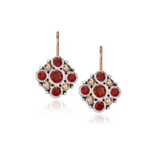 Victorian Earrings Garnet by Scarab Jewellery Studio