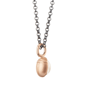 Rose Gold Scarab Moonstone Pendant by Scarab Jewellery Studio