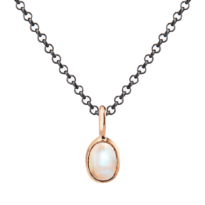 Rose Gold Scarab Rainbow Moonstone Pendant by Scarab Jewellery Studio